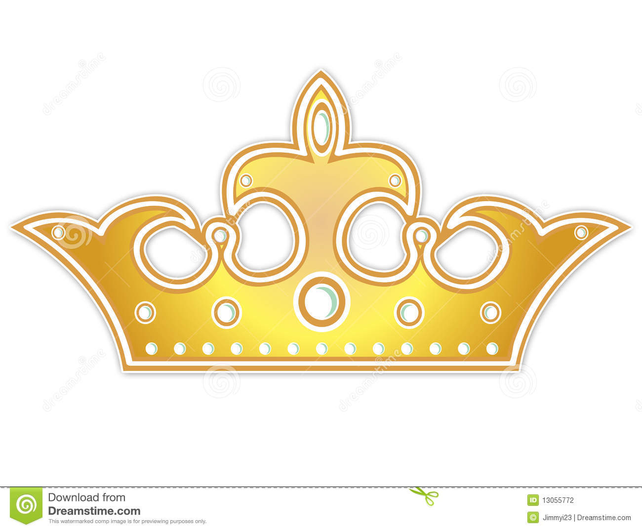 Golden Crown Stock Photography - Image: 13055772