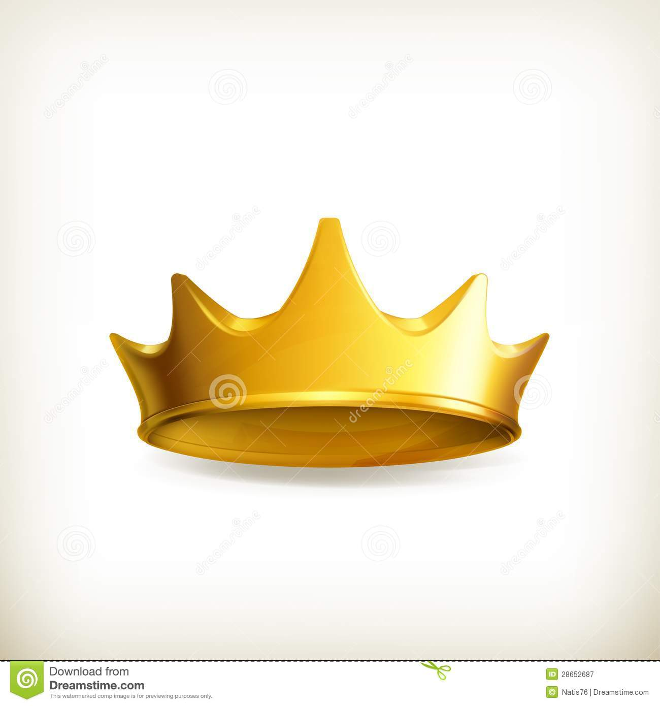 Golden Crown Royalty Free Stock Photography - Image: 28652687