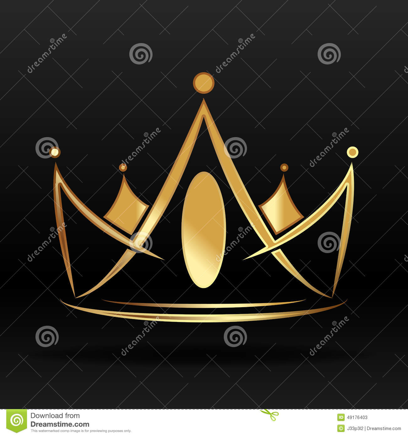 E House Plans Golden Crown For Logo And Design Stock Vector Image