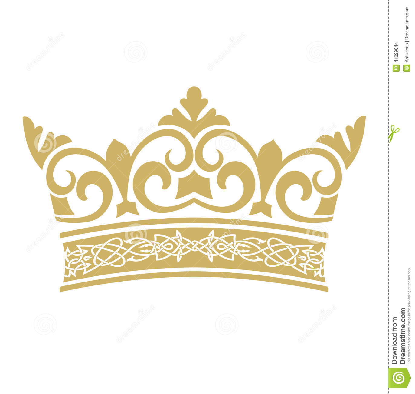 golden crown in vectors stock vector