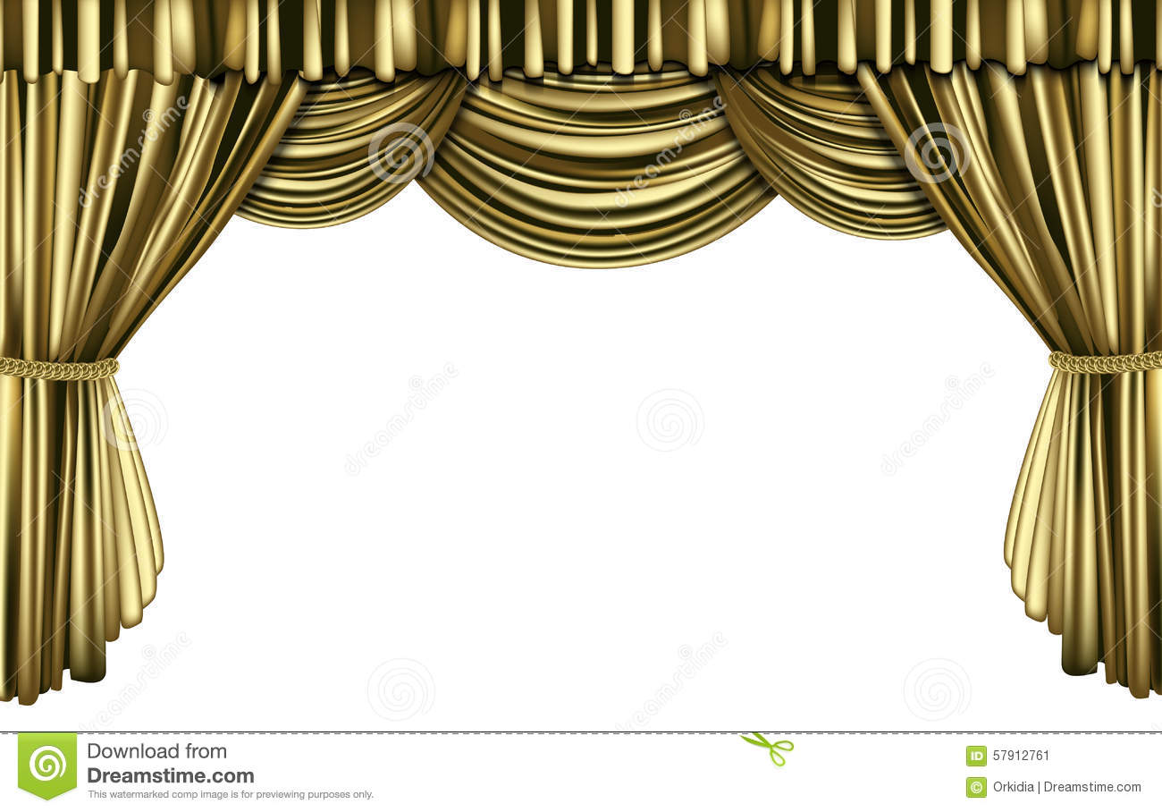 Gold stage curtain - Golden Curtain
