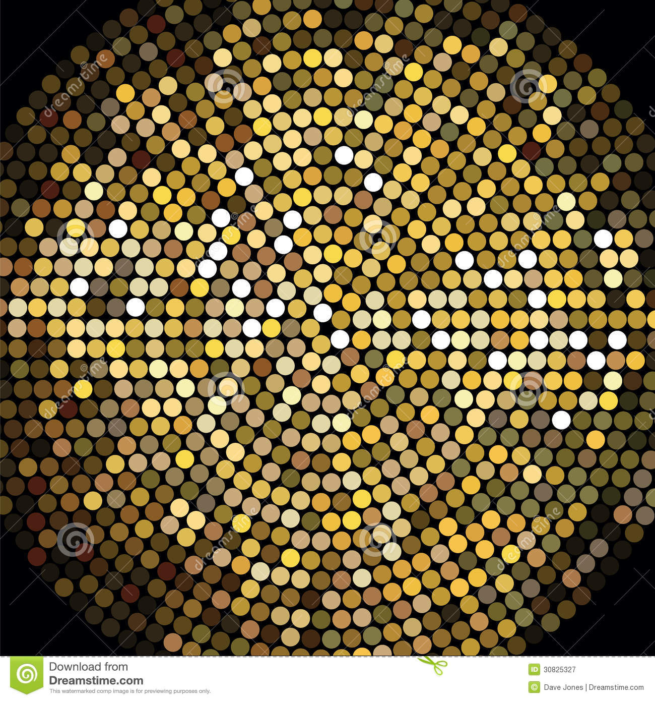 Golden Disco Ball Mosaic Background Royalty Free Stock