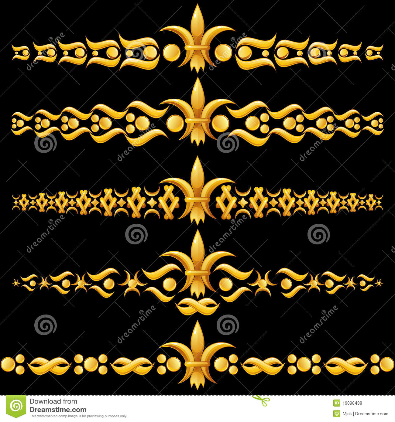 golden dividers with fleur