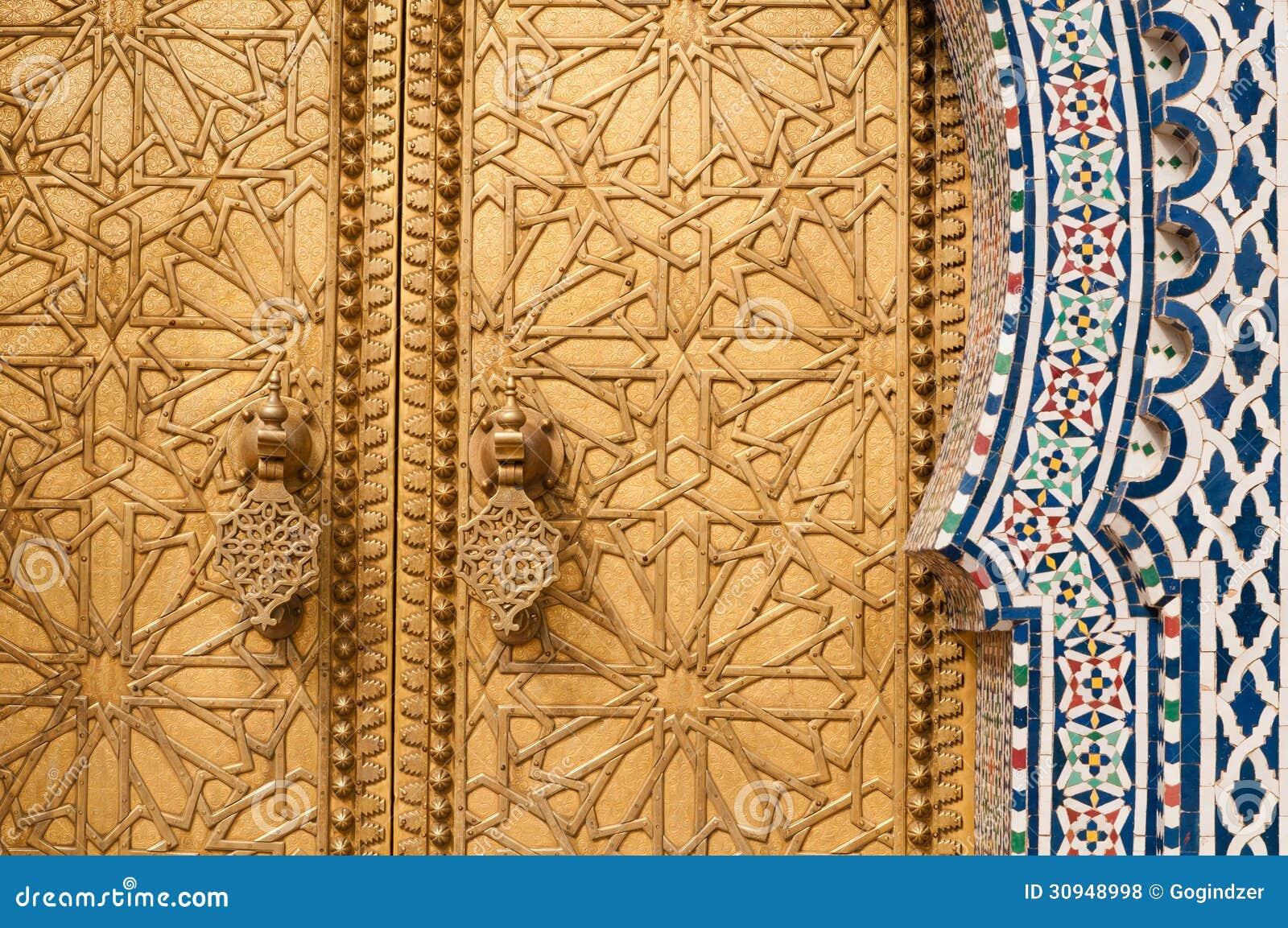 Golden Door Detail Royalty Free Stock Photos