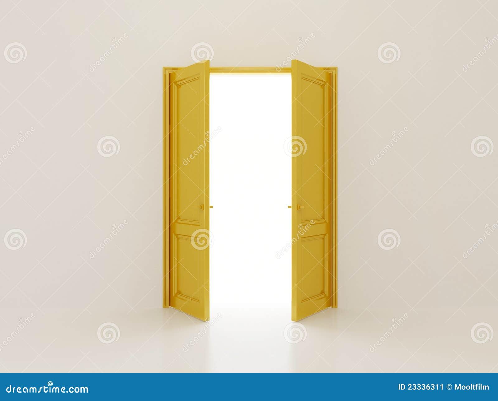background golden ... & Golden Doors Stock Image - Image: 23336311 Pezcame.Com