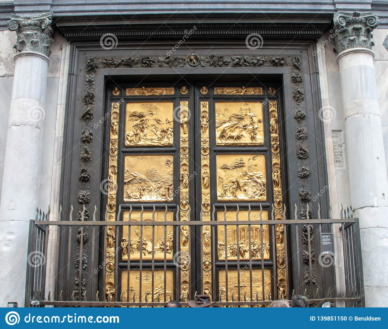 Golden Doors Of The Florence Baptistery Stock Photo ...