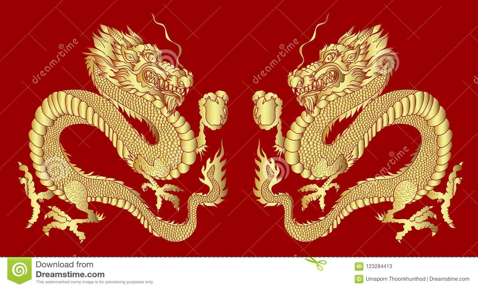Chinese new year golden dragon shiroka lyka labs