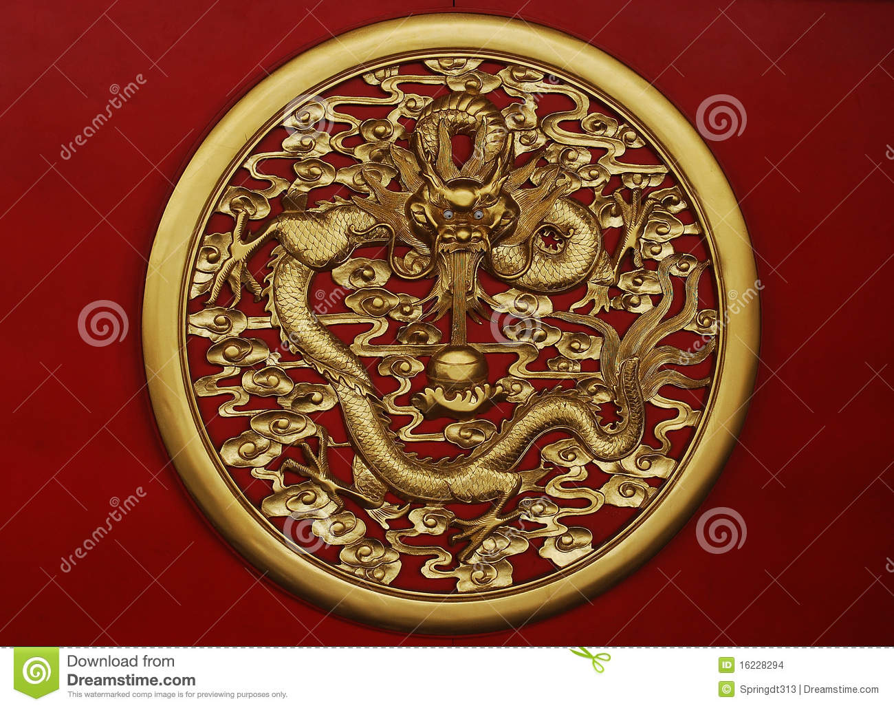 Download Golden dragon sculpture stock photo. Image of culture - 16228294