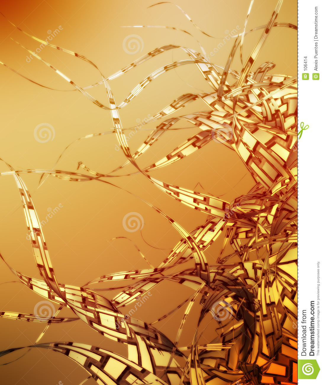 Download Golden dreams stock illustration. Illustration of fusion - 106414