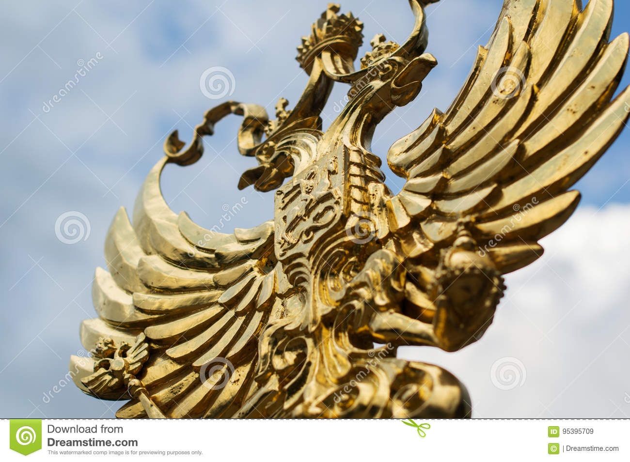 Golden Eagle Symbol Of The Emblem Of Russia Stock Image Image Of