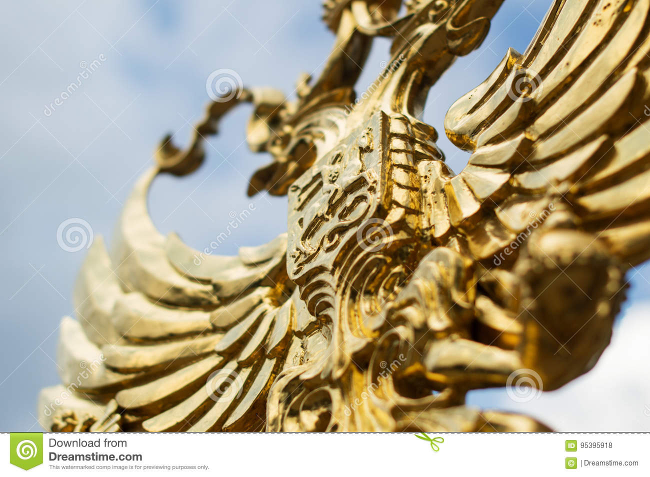 Golden Eagle Symbol Of The Emblem Of Russia Stock Photo Image Of