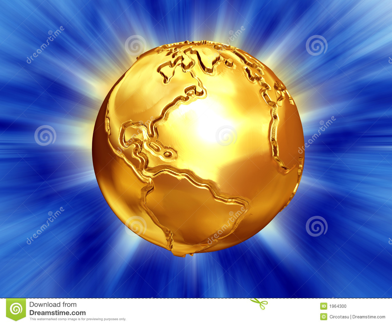 Golden Earth With Abst...