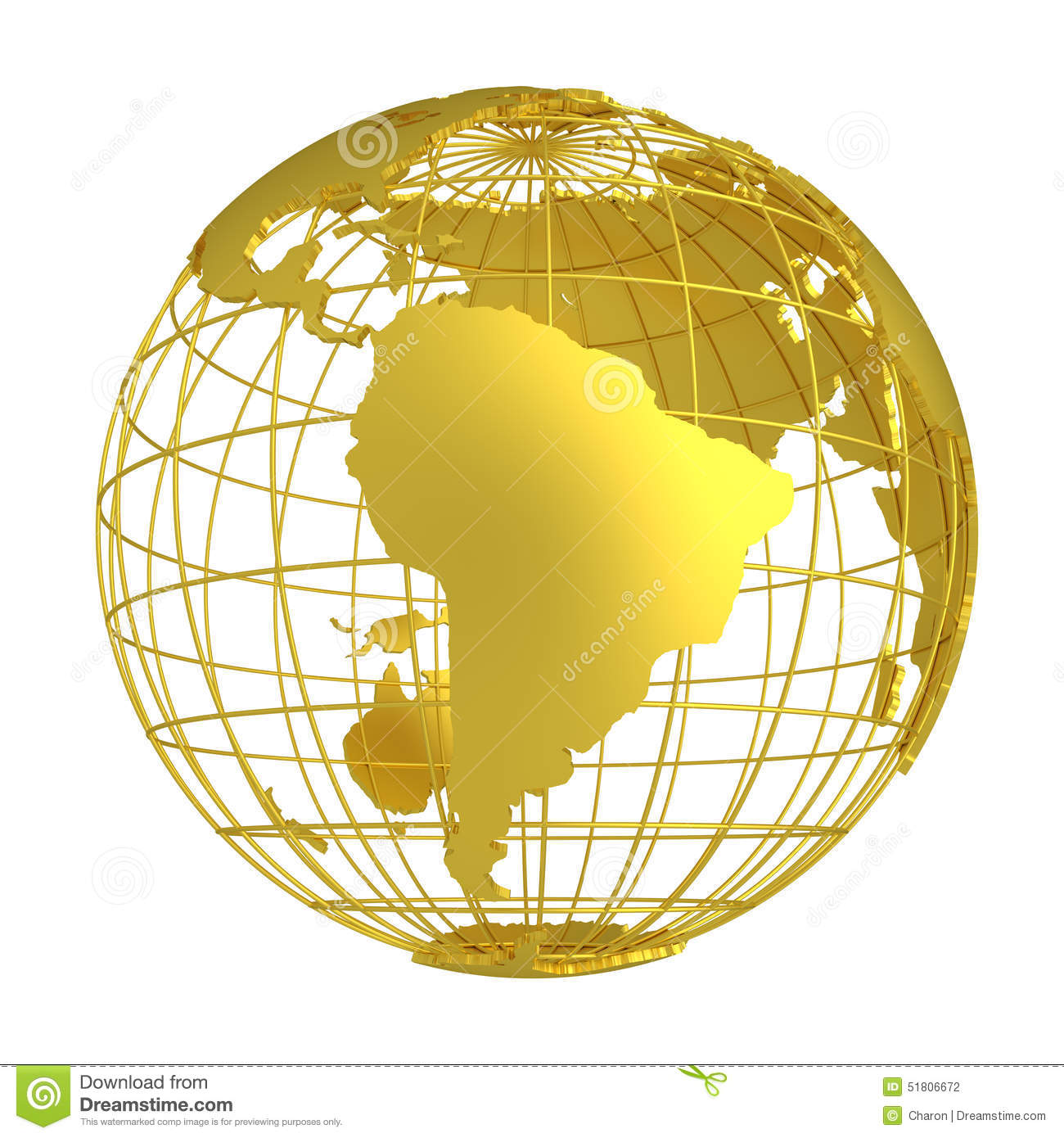 golden earth planet 3d globe stock photo image 51806672 Globe Vector Drawing Globe Vector Graphics