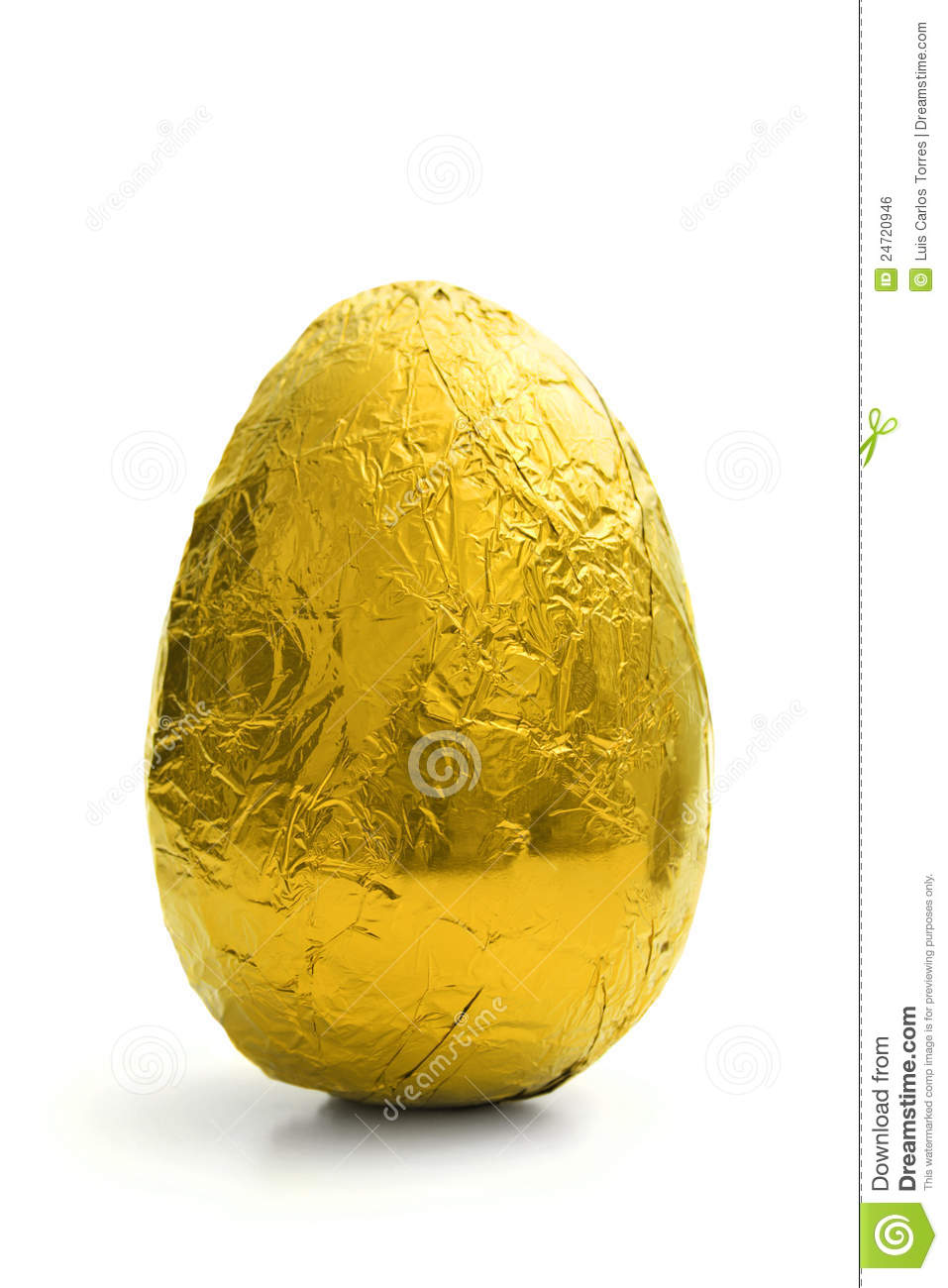 Download Golden Easter egg stock photo. Image of wrapped, white - 24720946