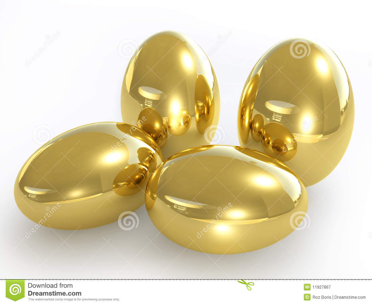 Golden Eggs Royalty Free Stock Photography - Image: 11927867