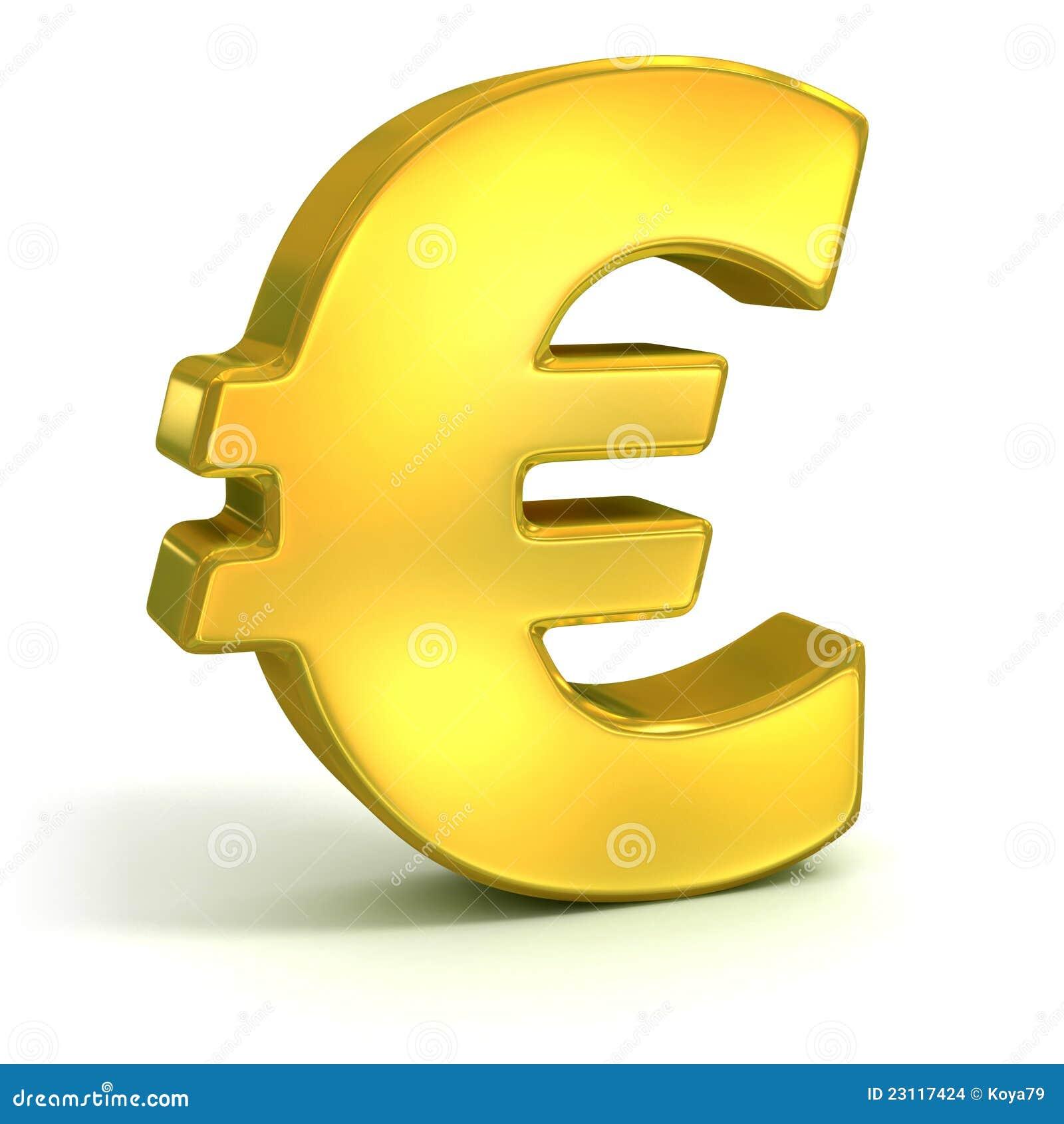 Golden euro 3d symbol stock illustration illustration of corporate golden euro 3d symbol buycottarizona Choice Image