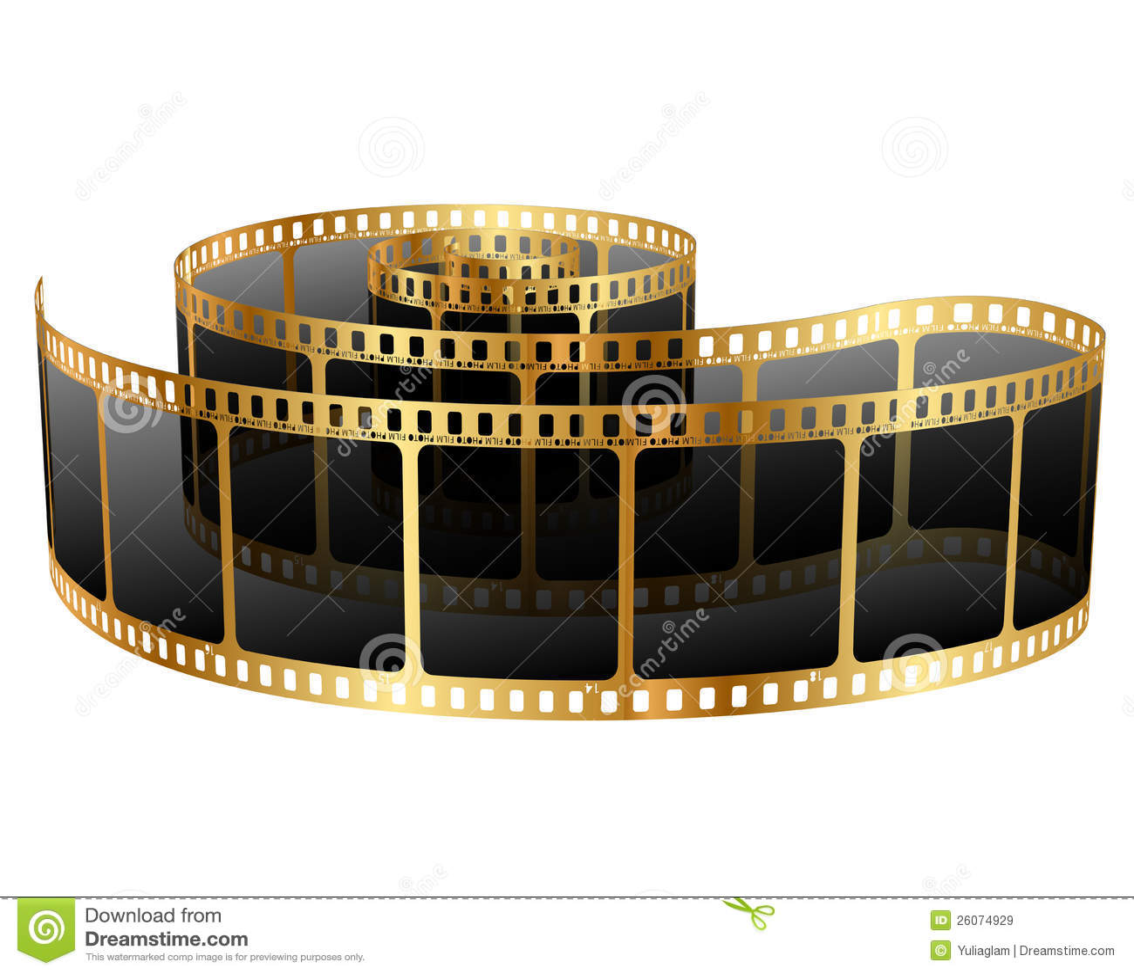 golden film strip stock vector illustration of frame film strip clip art images film strip clip art no border