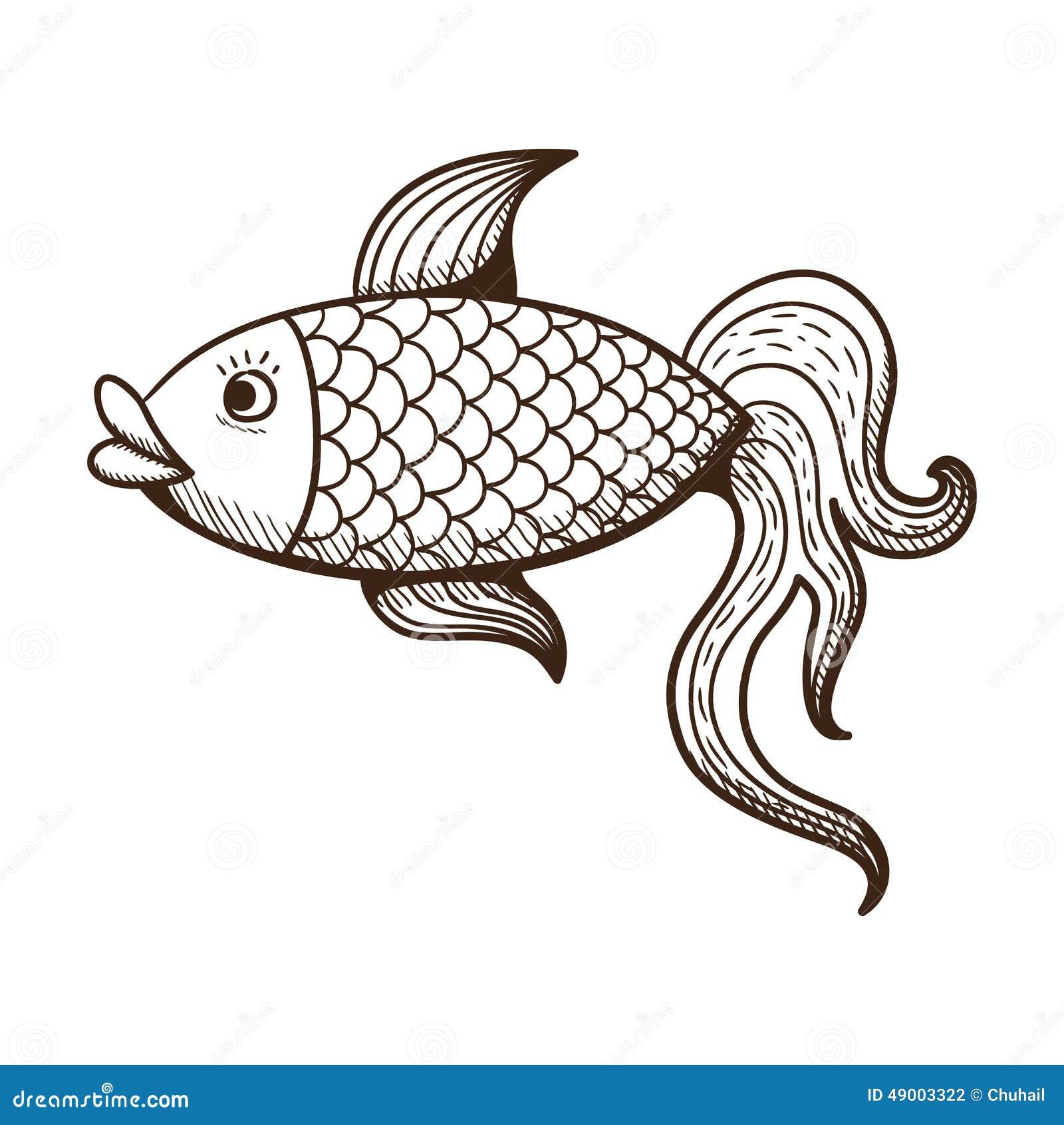 Golden Fish. Stock Vector - Image 49003322