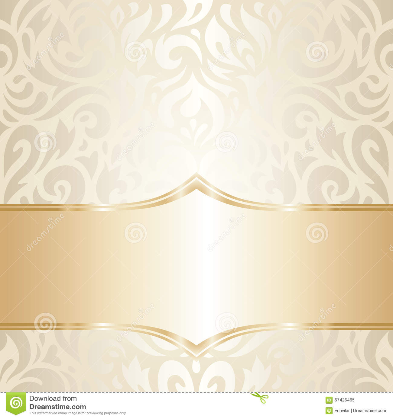 golden floral wedding vintage wallpaper design stock vector illustration of curl repetition 67426465 dreamstime com