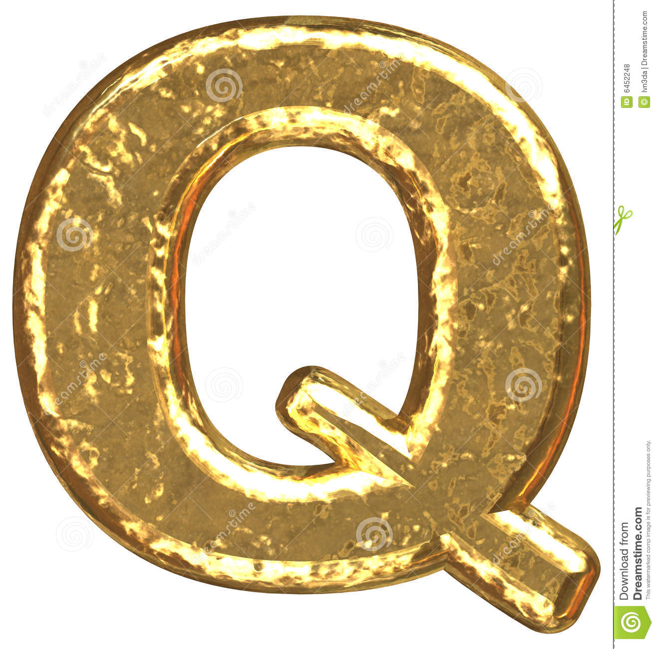 Golden Font  Letter Q  Royalty Free Stock Photos