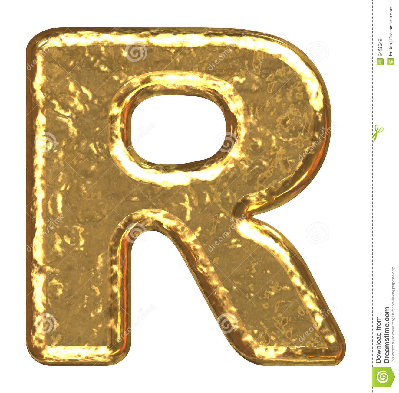 Golden Font Letter R Stock Illustration Illustration Of Element