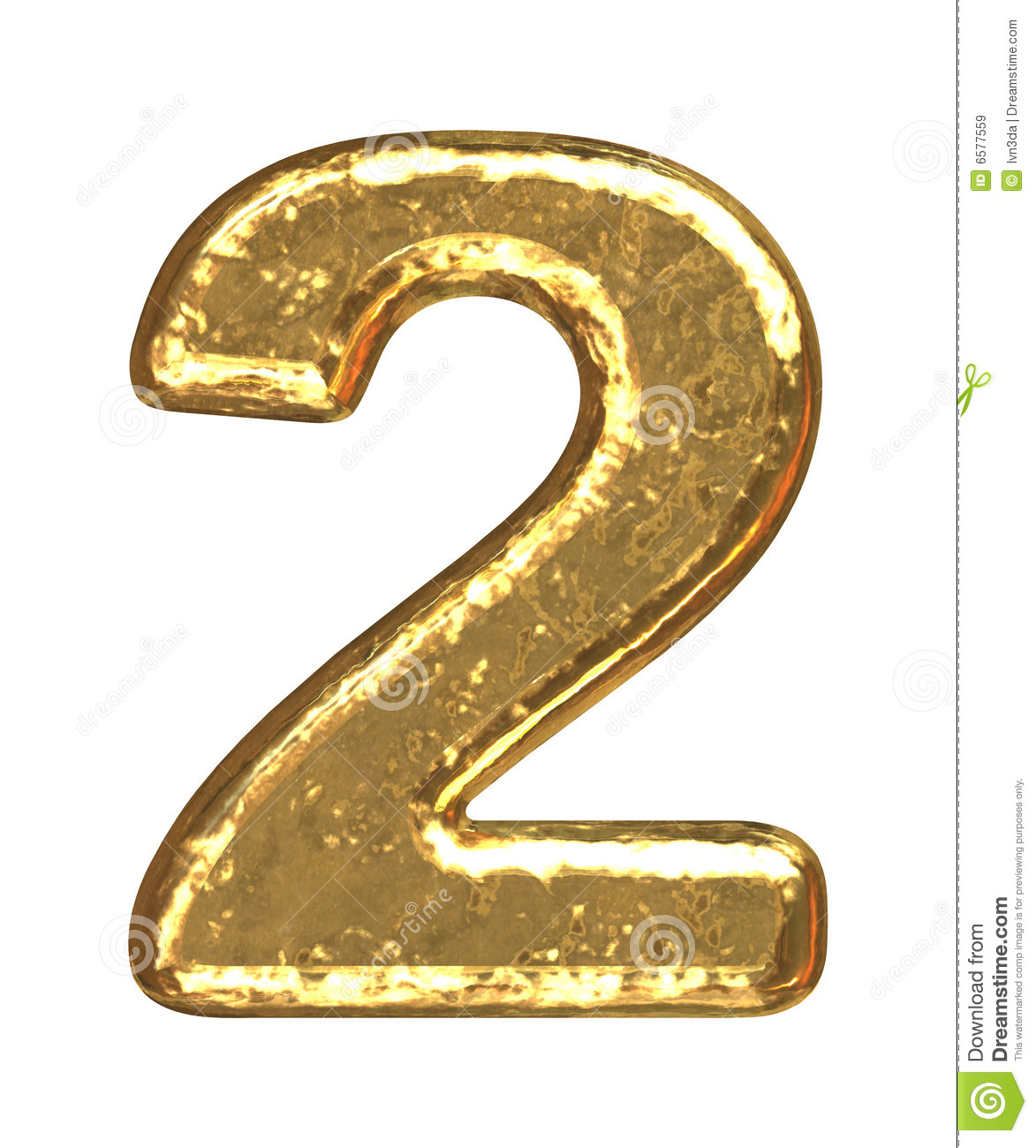 golden font  number two stock illustration  image of learn