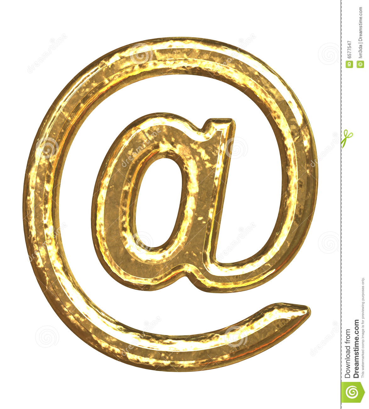 Golden Font At Sign Royalty Free Stock Photography