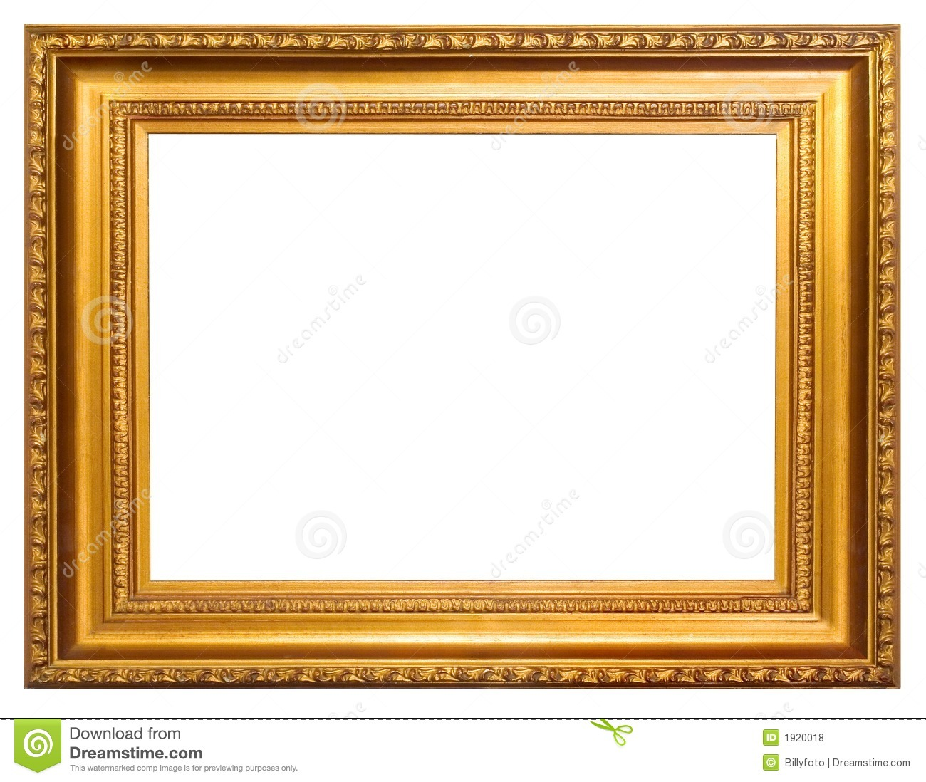 Golden frame stock photo. Image of isolated, rustic, custom - 1920018