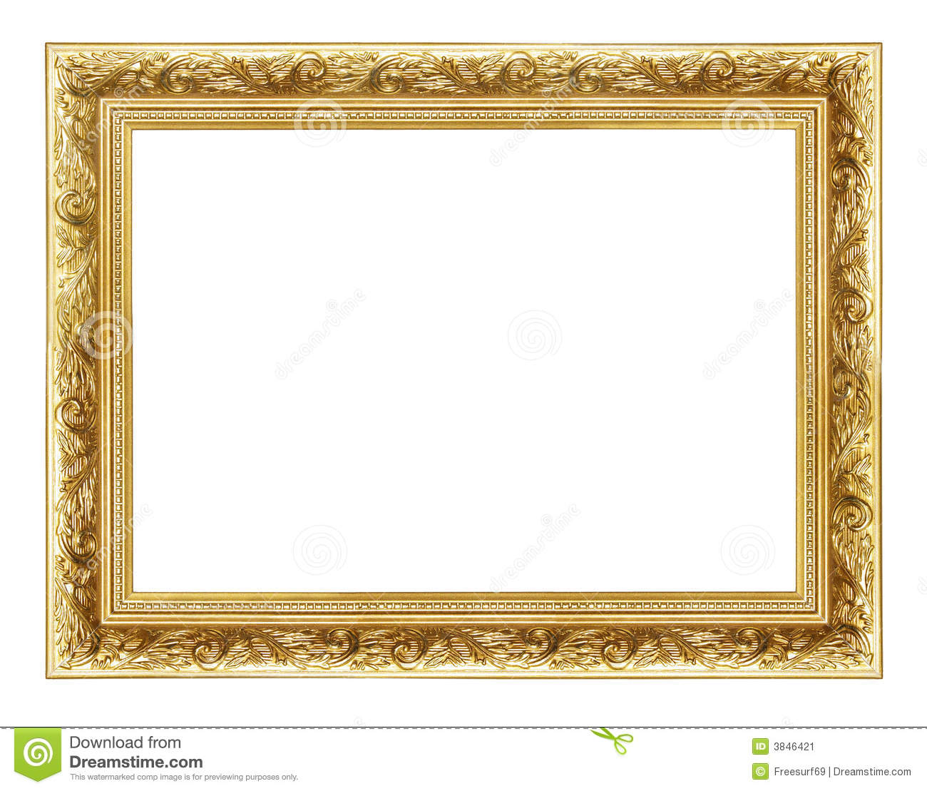 Golden Frame 2 Stock Image Image 3846421