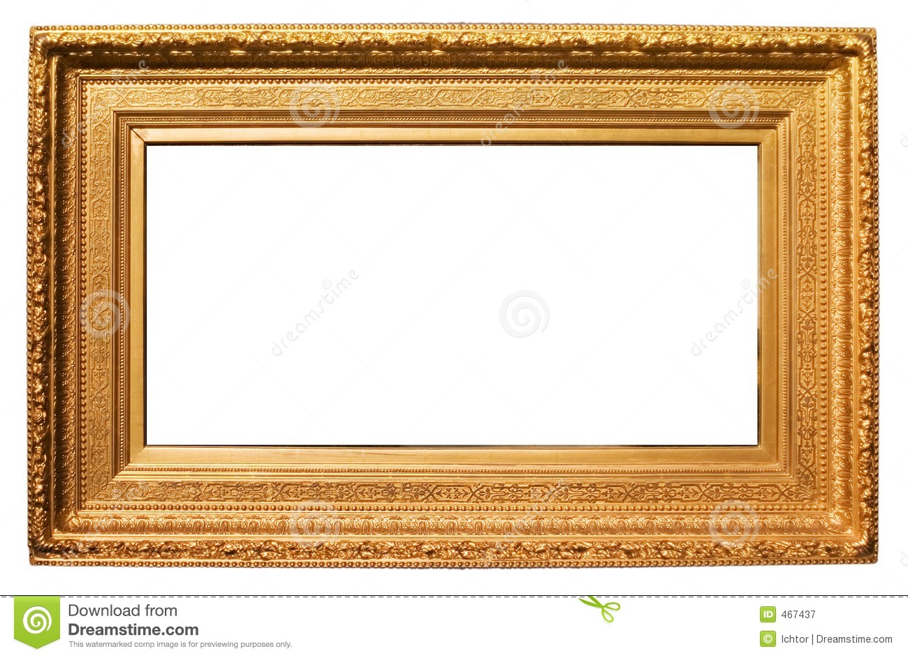 Golden Frame Stock Image Image Of Ornamental Ancient