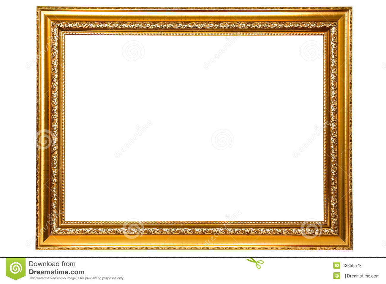 Golden frame stock image. Image of texture, gold, exhibition - 43359573