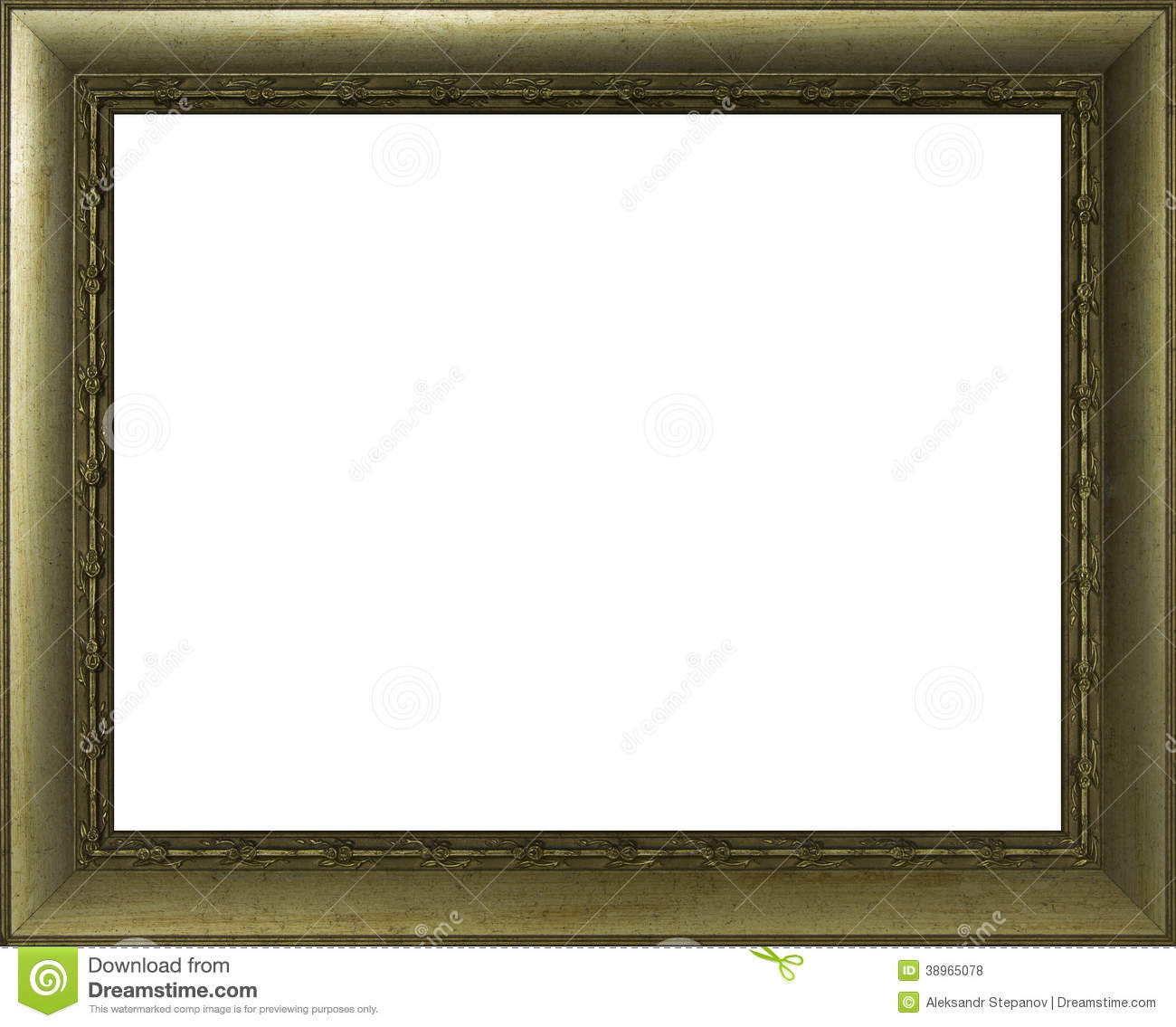 Golden frame for painting stock photo. Image of photo - 38965078