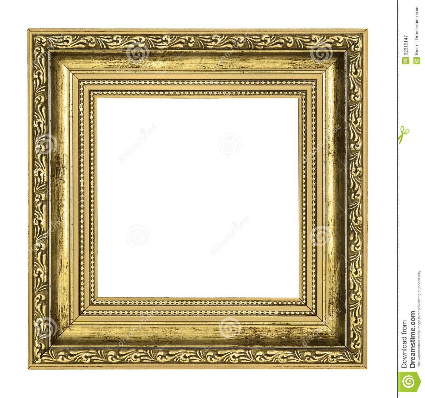 golden frame with thick border gold i