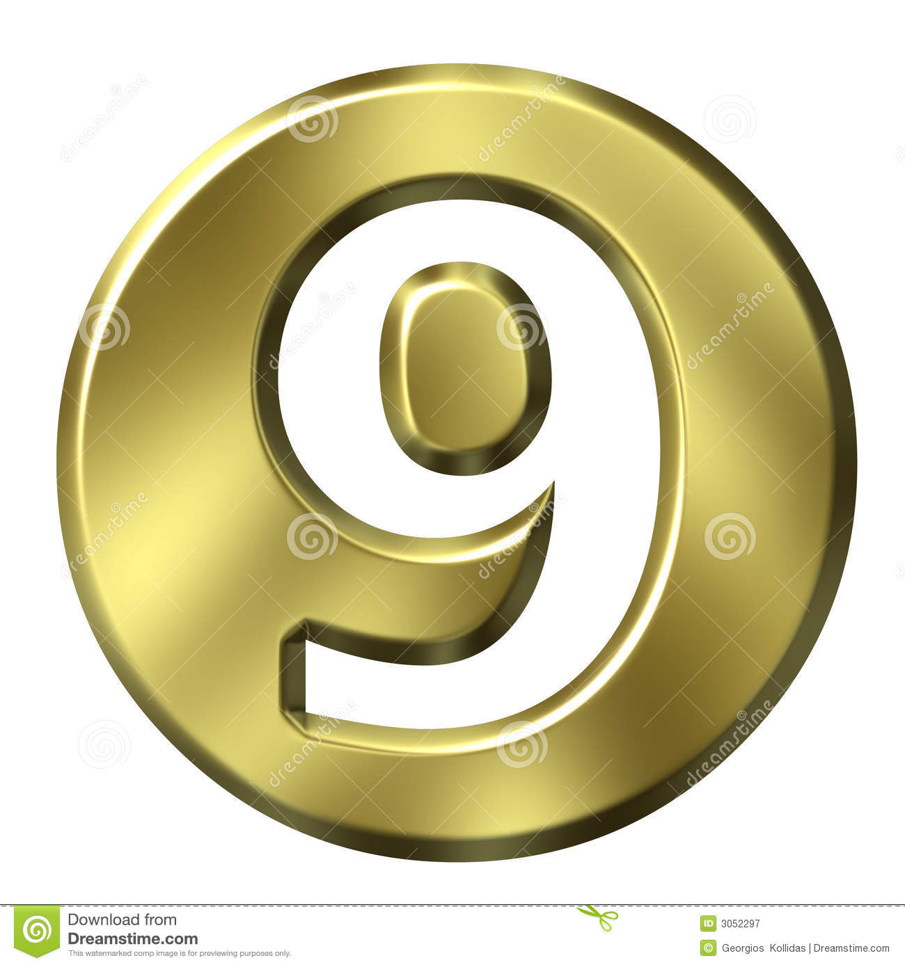 golden framed number 9 stock illustration  illustration of icon