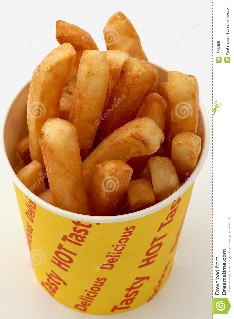 Golden Fries In A Chip Bucket Stock Image - Image: 1546405