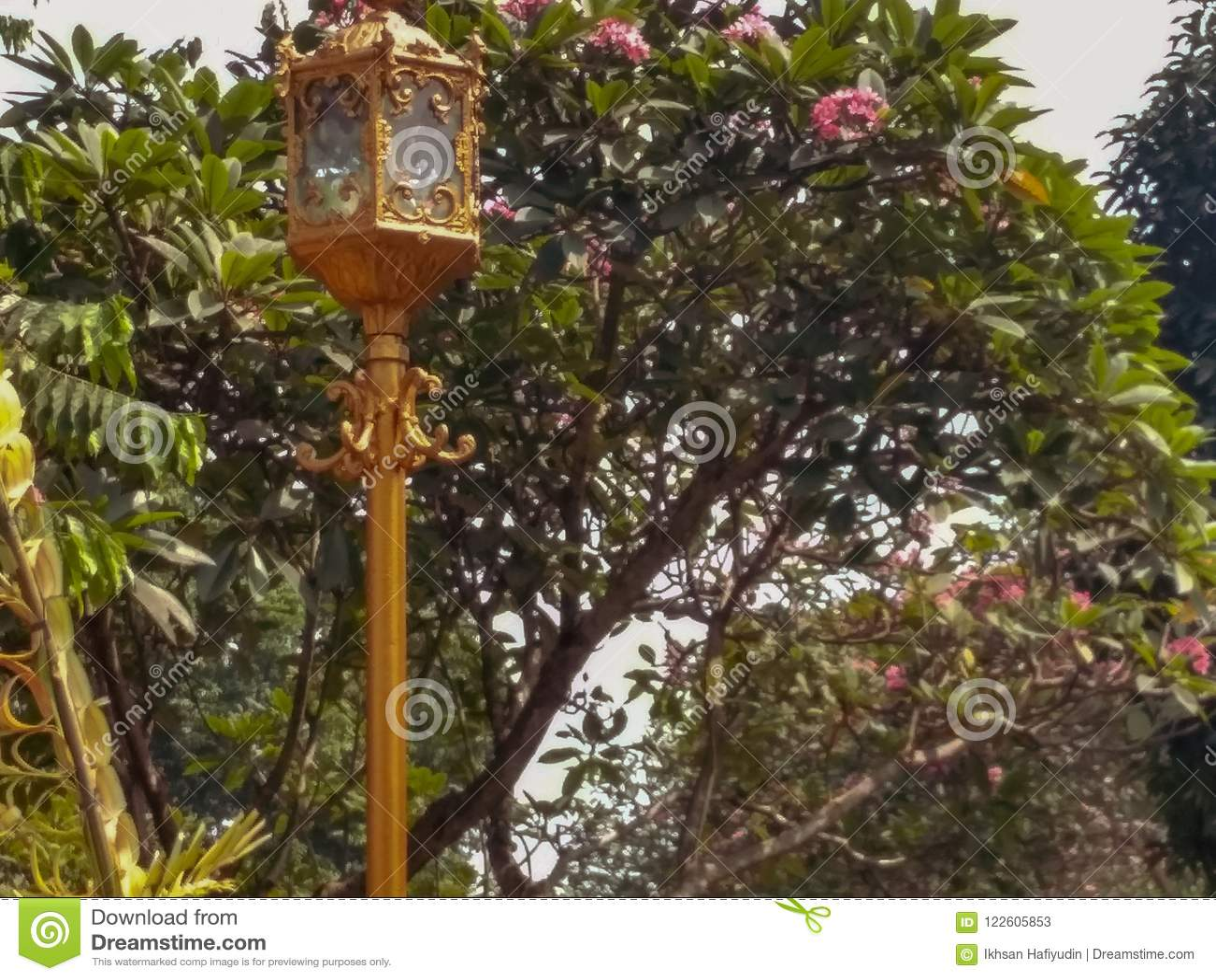 Golden garden llights stock image. Image of jakarta - 122605853