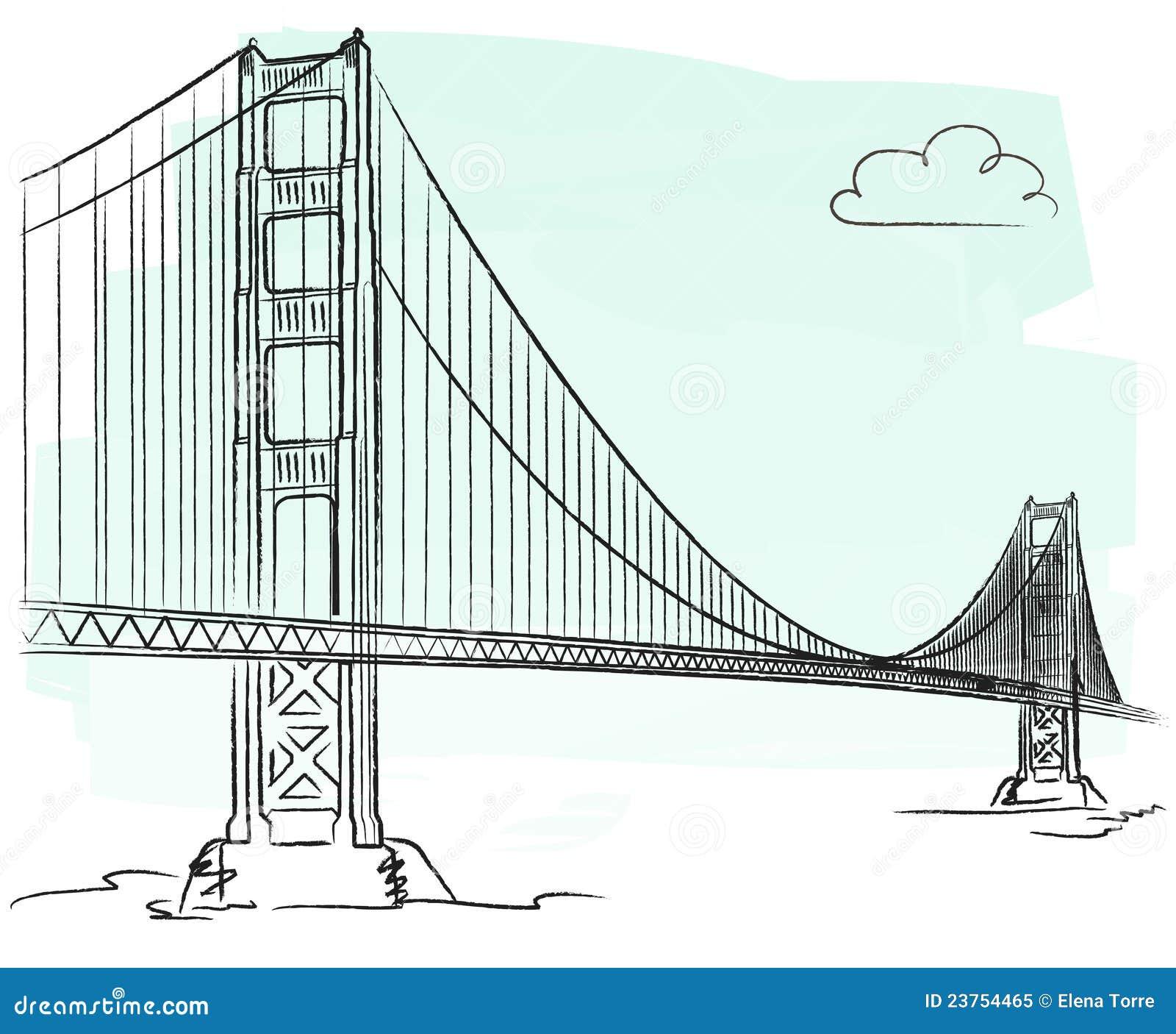 Golden Gate Bridge Vector Illustrator File Golden gate vector