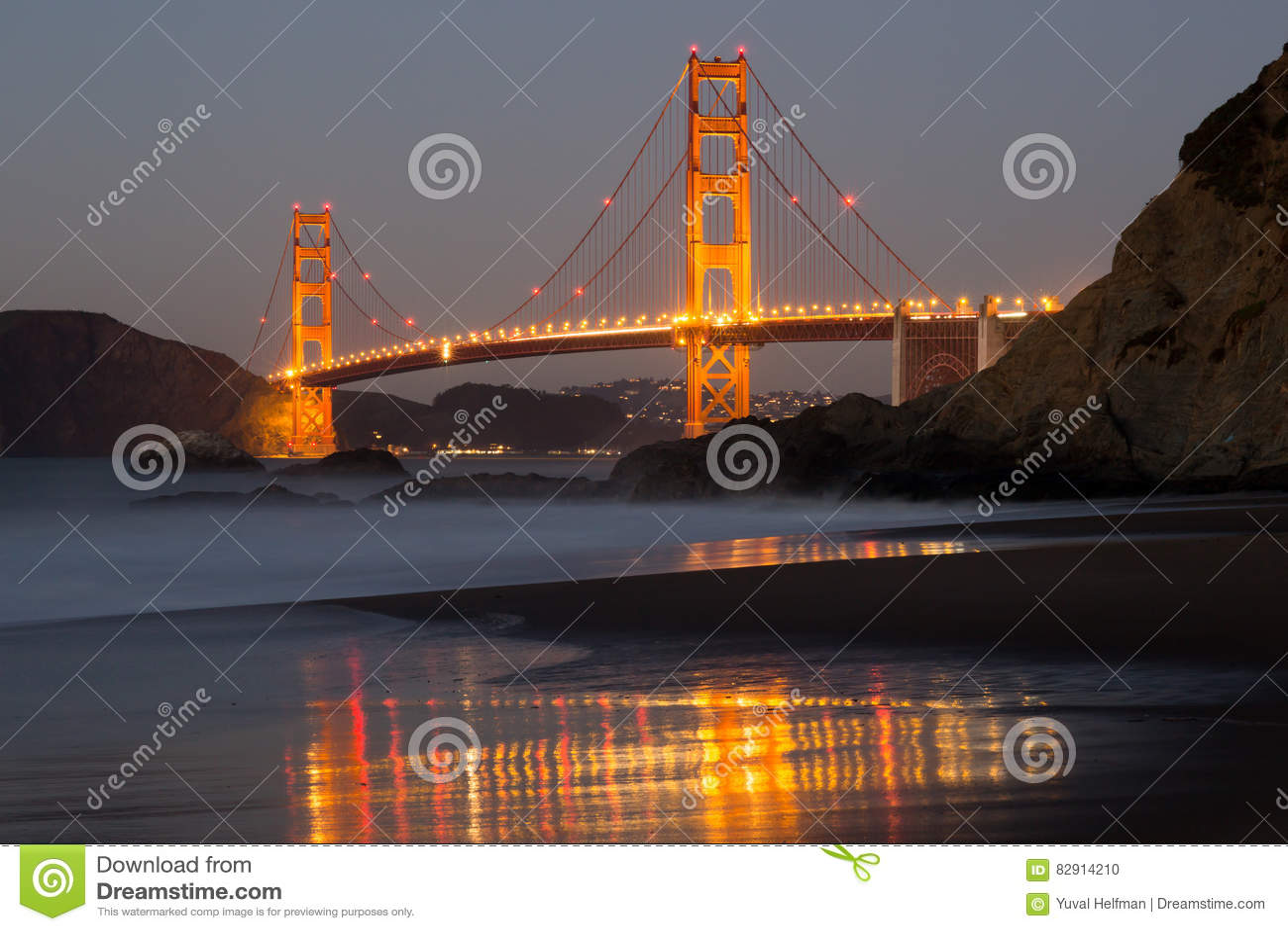 The Golden Gate Bridge and Baker Beach Reflections