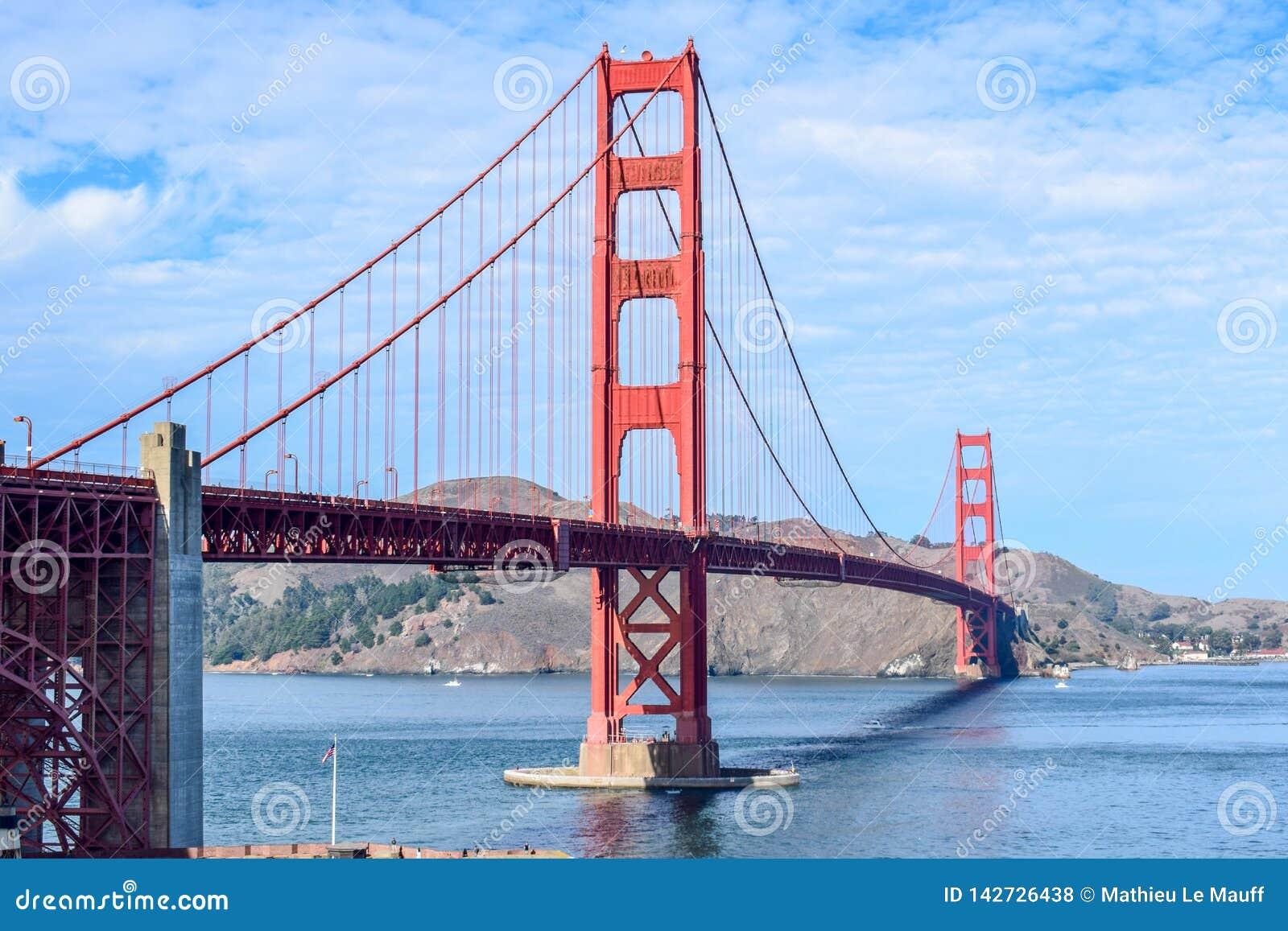 Golden gate bridge dat van Fortpunt wordt gezien, San Francisco, Californië