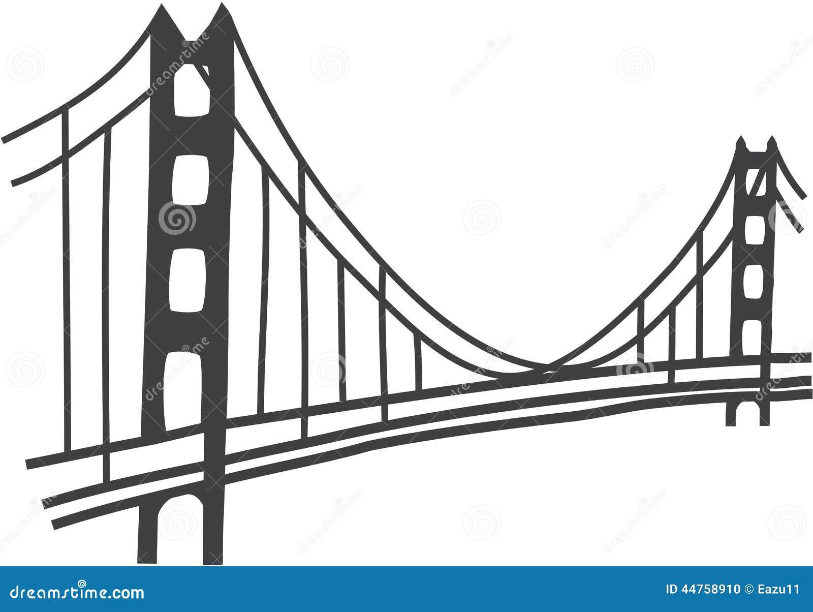 golden gate bridge drawing stock photo  illustration of