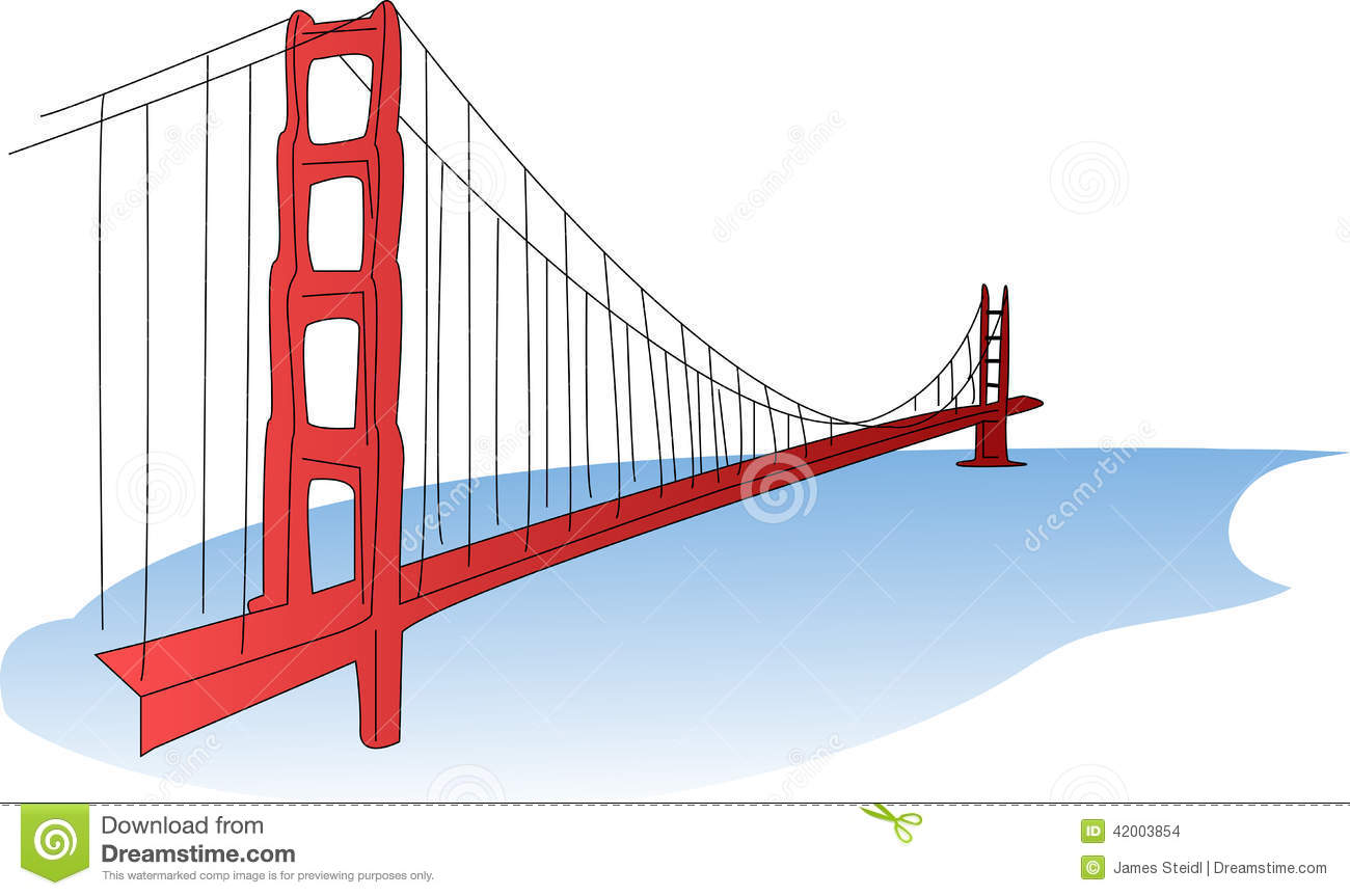 Golden Gate Bridge Stock Vector Image Of Cable Travel