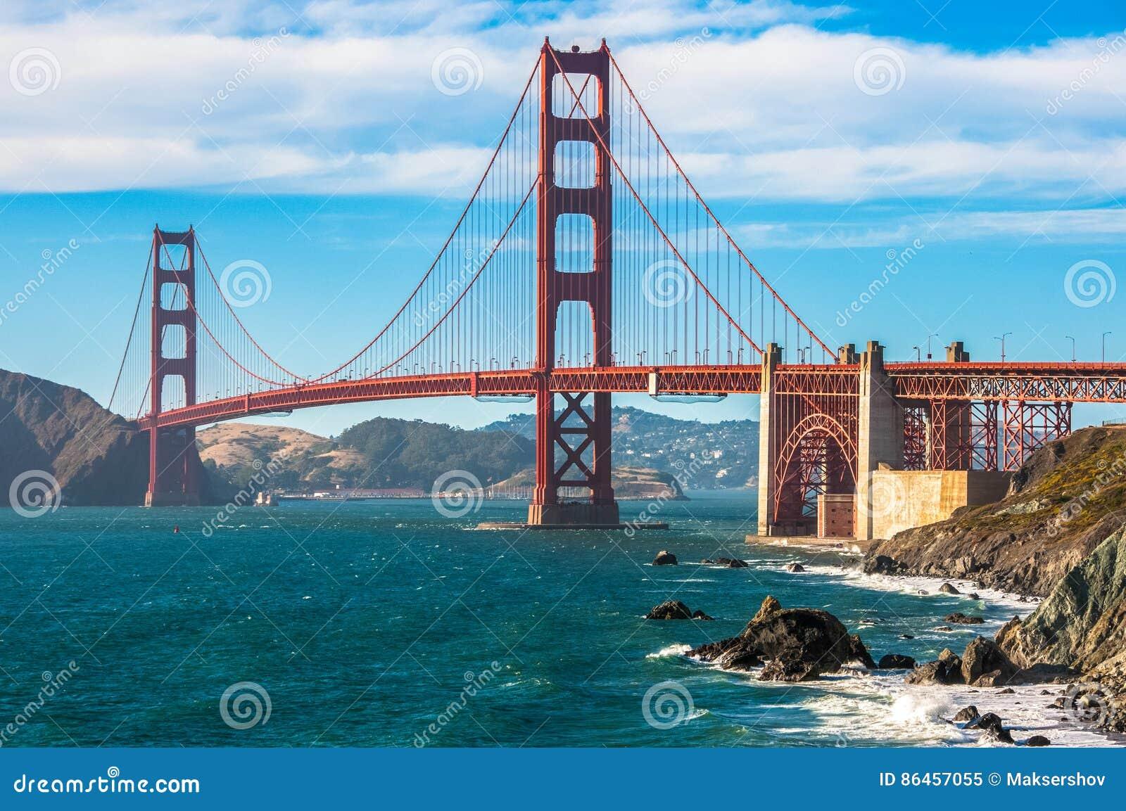 Golden gate bridge-oriëntatiepunt van San Francisco, Californië, de V.S.
