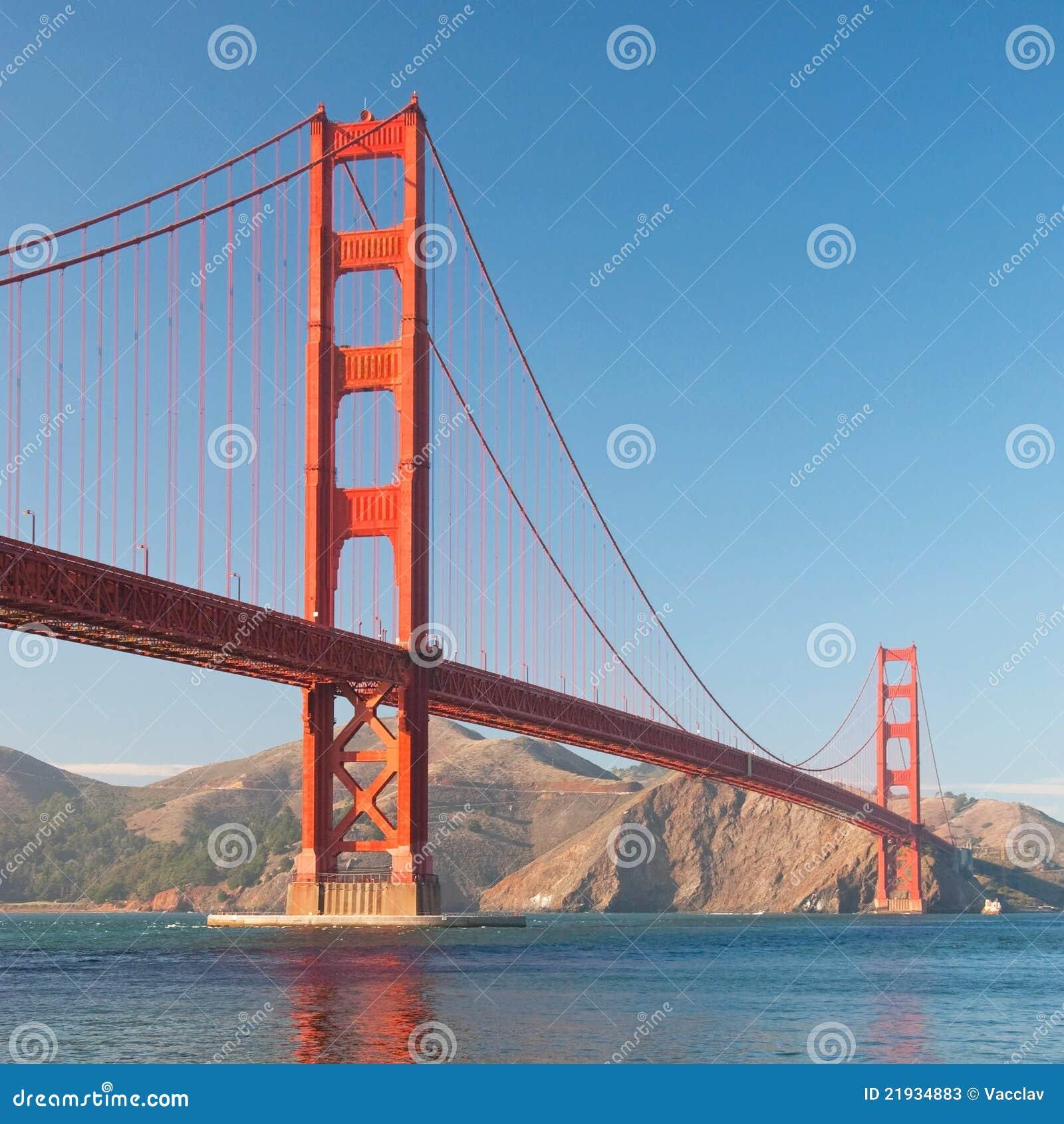 Golden Gate Bridge San Francisco California Sunset Picture: The Golden Gate Bridge In San Francisco Sunset Stock