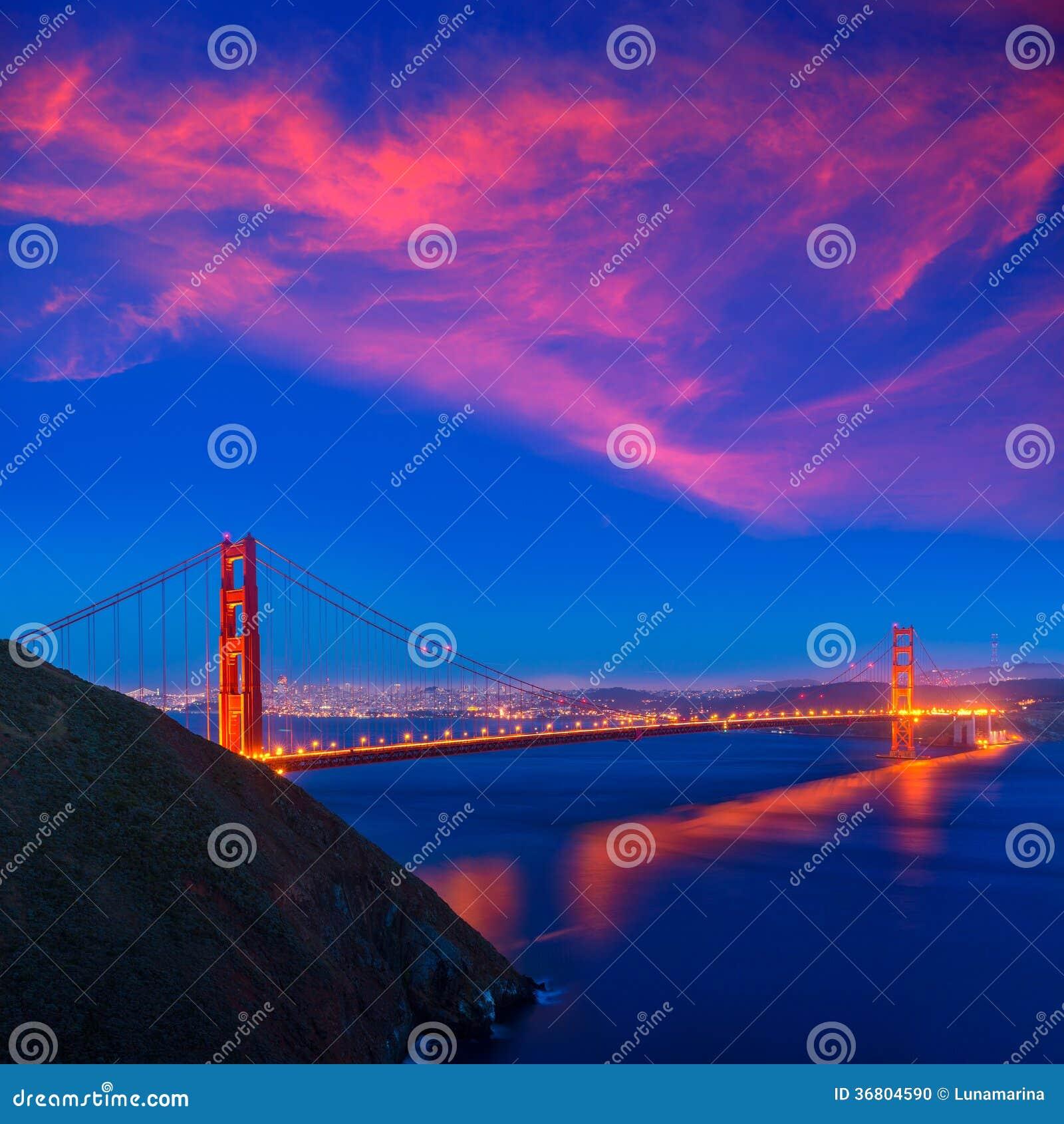 Golden Gate Bridge San Francisco California Sunset Picture