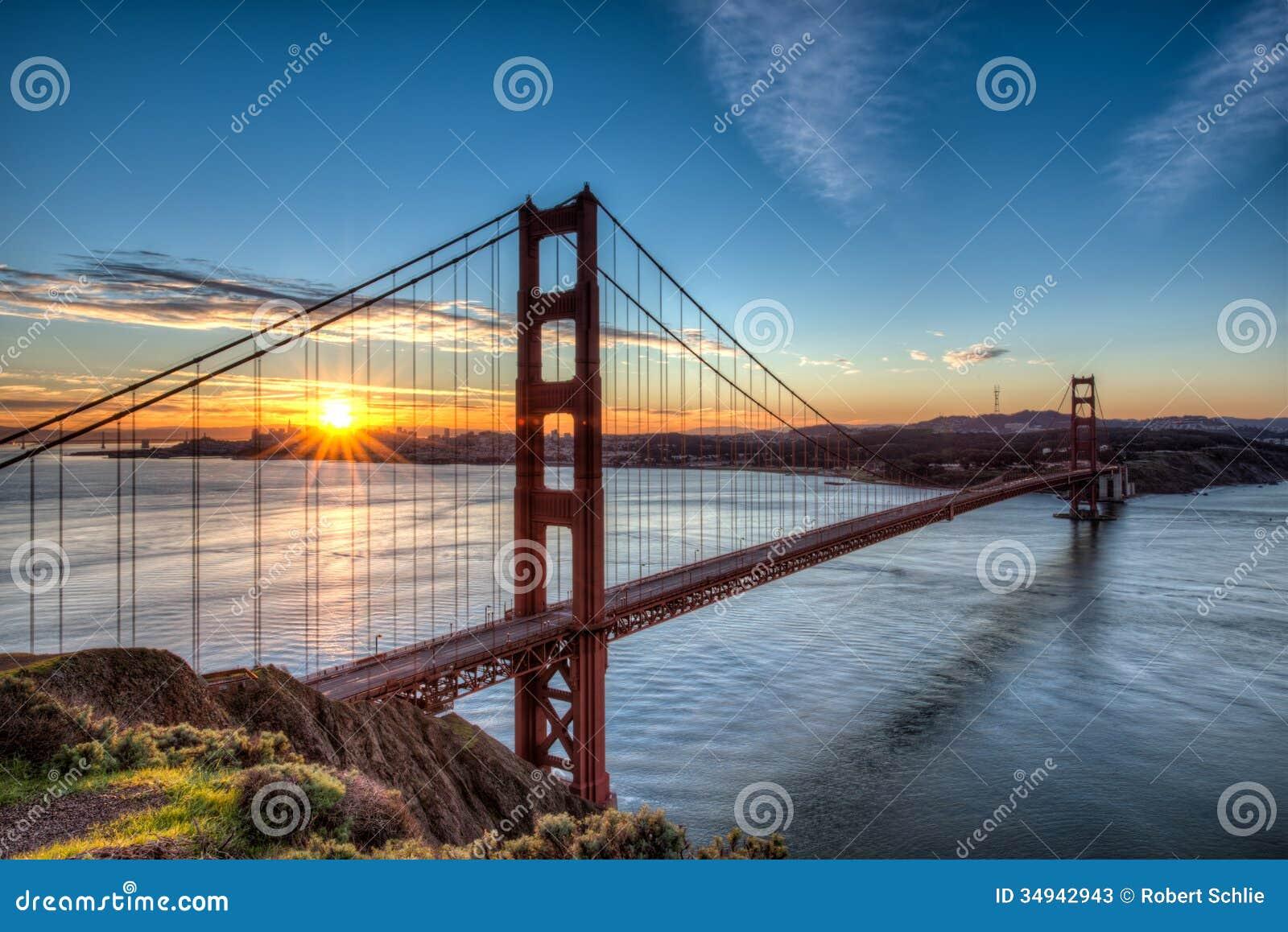 Golden Gate Bridge at Sunrise