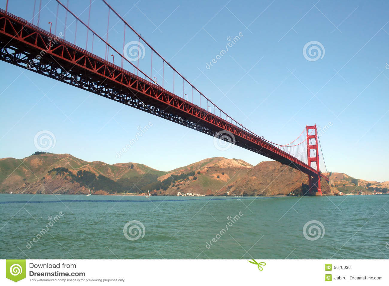 Golden Gate Bridge From The Water
