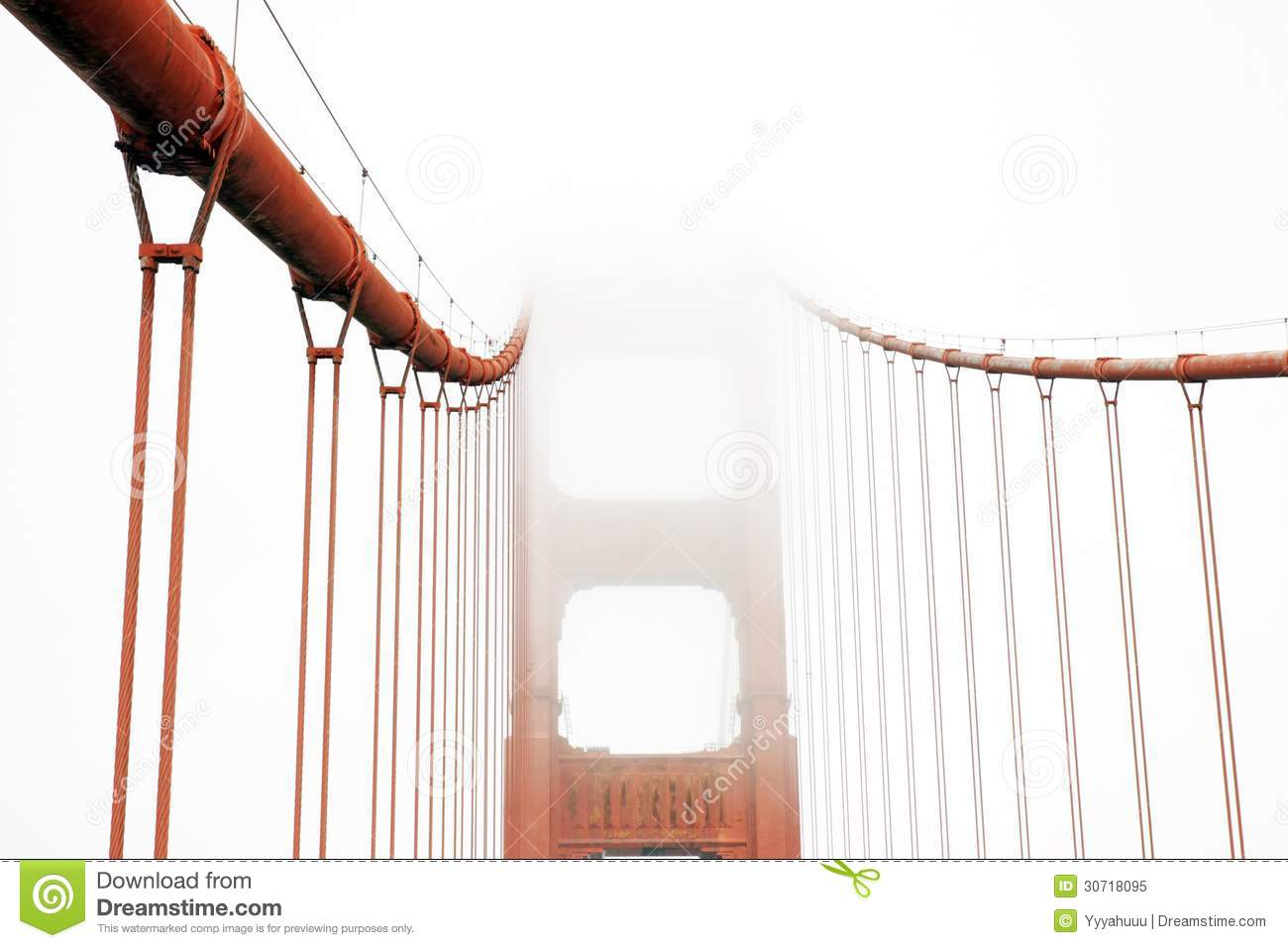 Golden Gate in a foggy day
