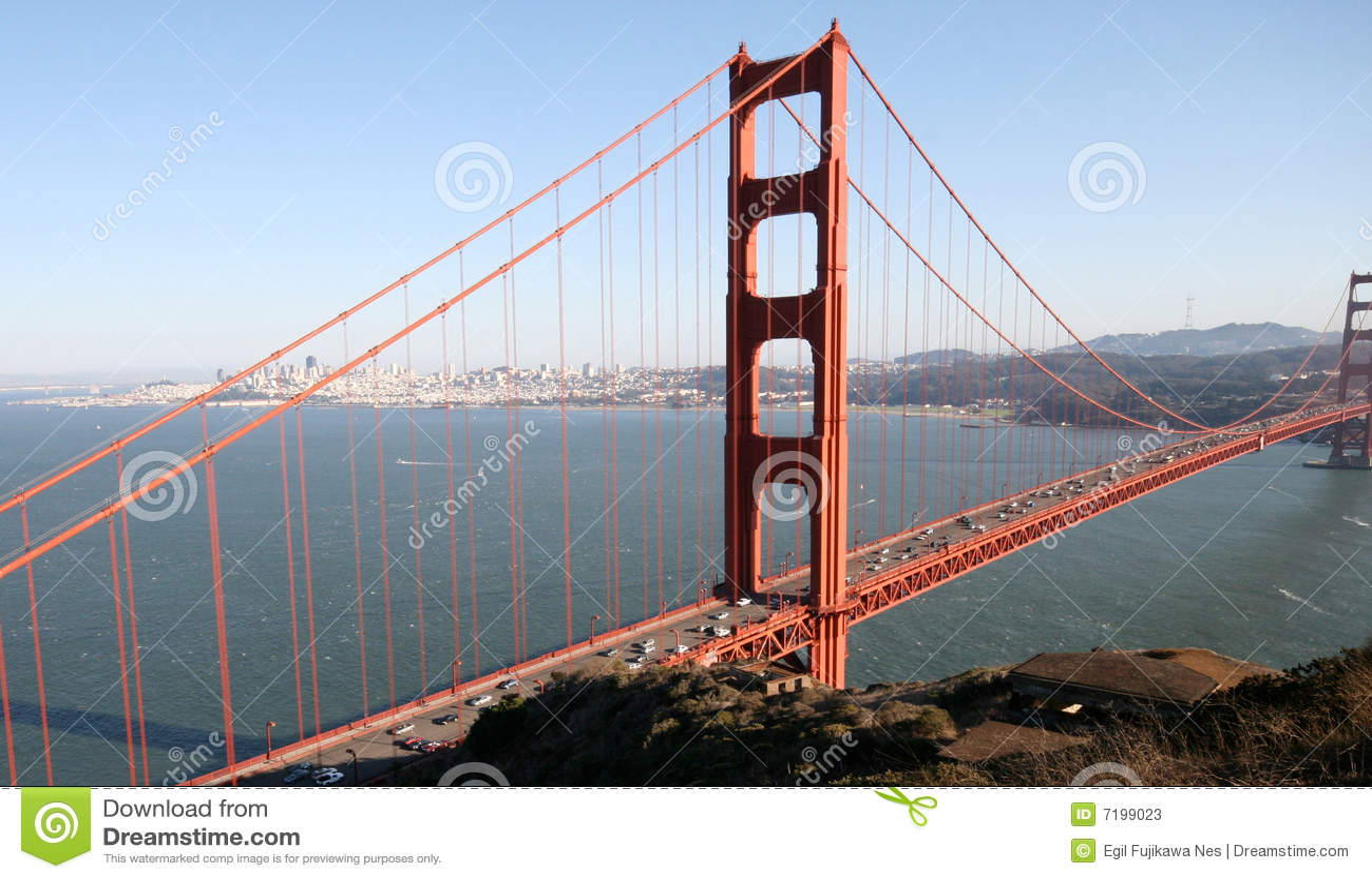 Golden gate landscape stock photos image 7199023 for San francisco landscape