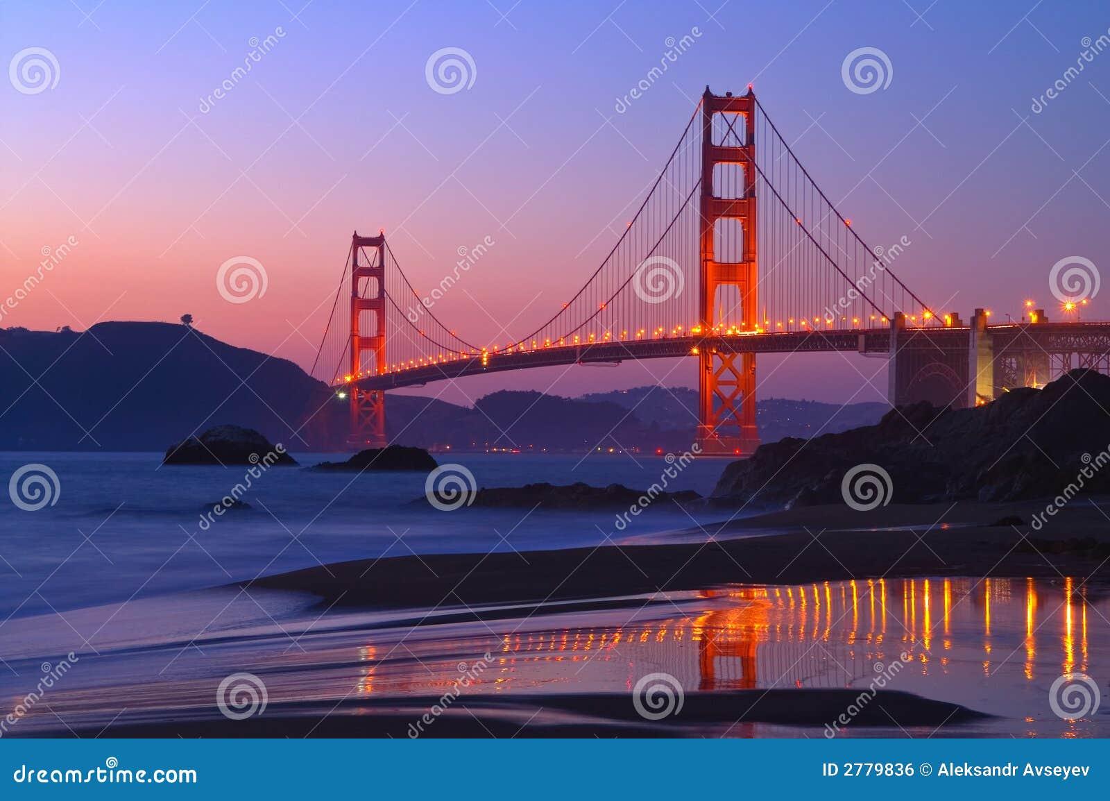 Golden Gate am Sonnenuntergang
