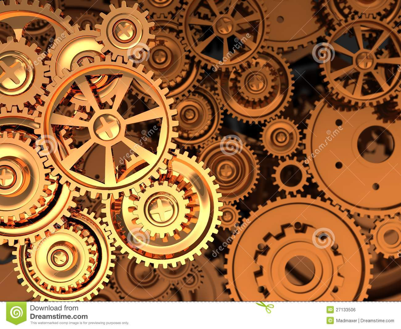 golden gears royalty free stock image image 27133506